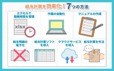 給与計算を効率化する7つの方法